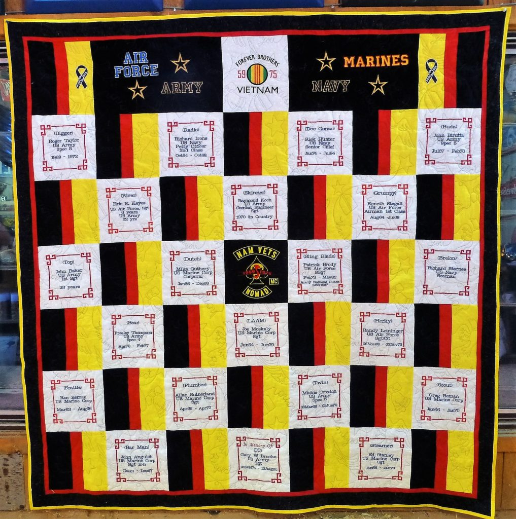 NR 2018 - Brotherhood Quilt - A Work Of Art !